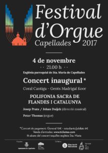 Festival Orgue Capellades 2017- Coral Cantiga - Gents Madrigal Koor